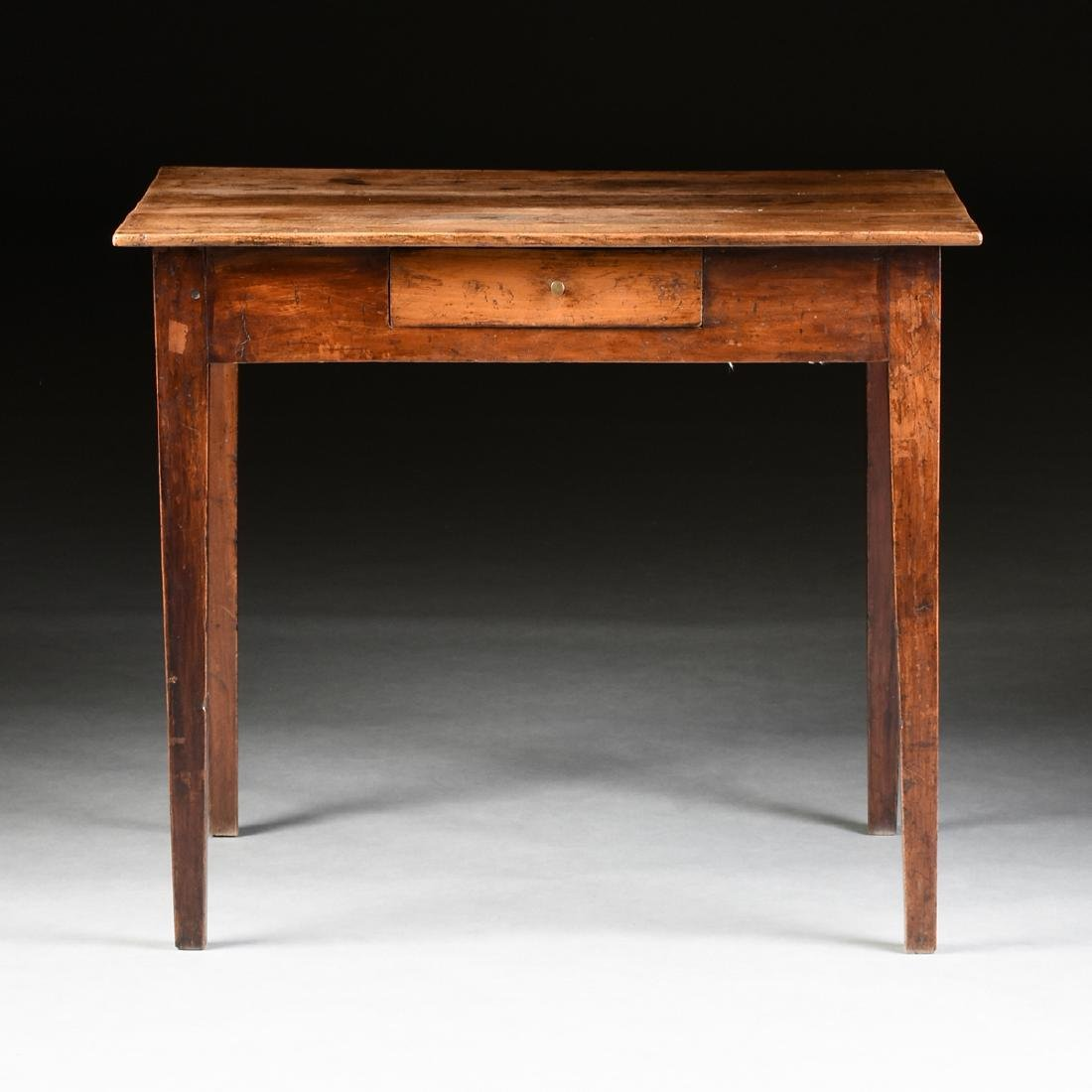 AN VERNACULAR FRUITWOOD KITCHEN TABLE, POSSIBLY - 2