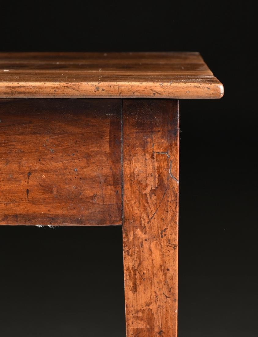 AN VERNACULAR FRUITWOOD KITCHEN TABLE, POSSIBLY - 3