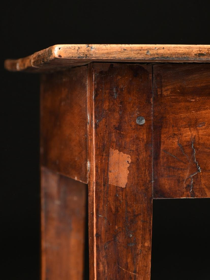 AN VERNACULAR FRUITWOOD KITCHEN TABLE, POSSIBLY - 6