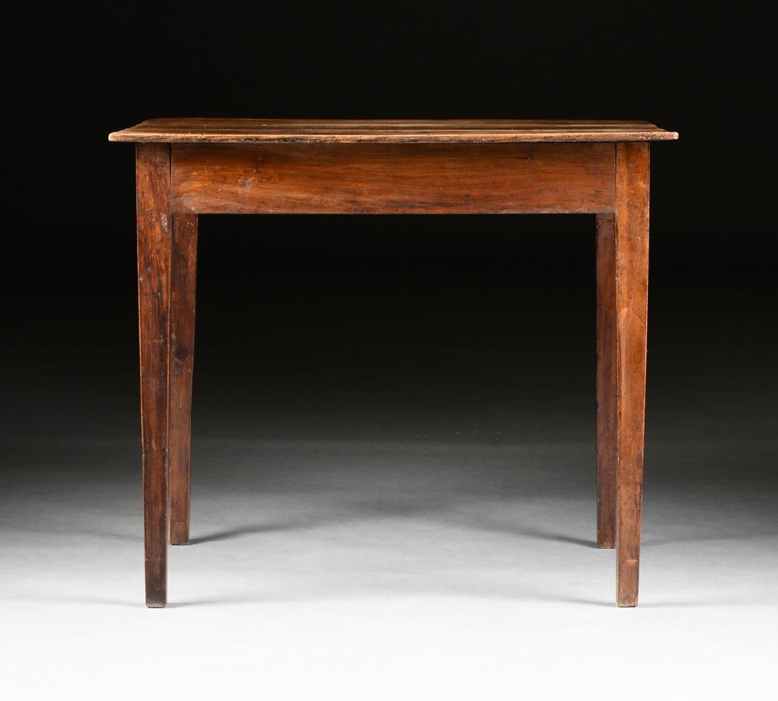 AN VERNACULAR FRUITWOOD KITCHEN TABLE, POSSIBLY - 9