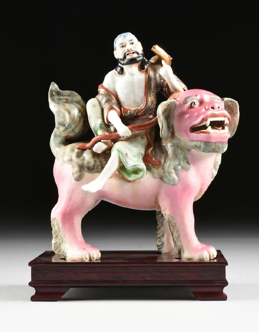 A GROUP OF CHINESE EXPORT PARCEL GILT POLYCHROME - 10