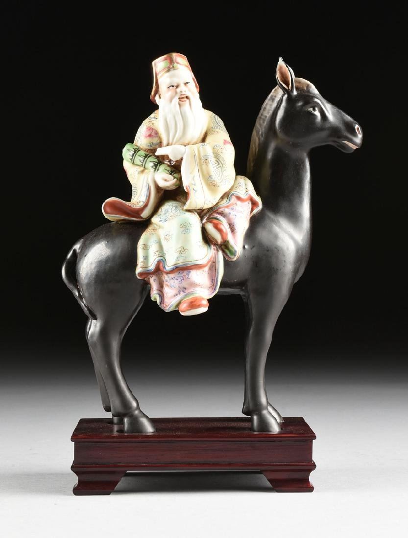 A GROUP OF CHINESE EXPORT PARCEL GILT POLYCHROME - 13