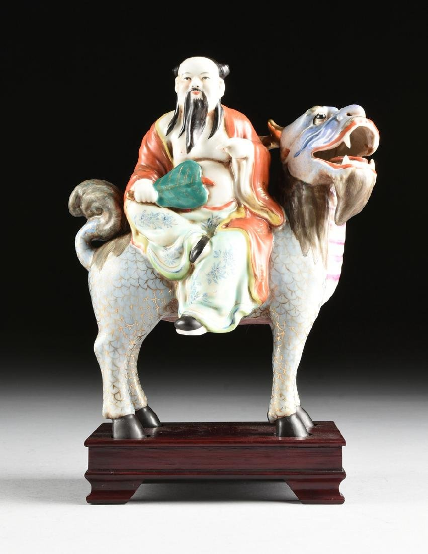 A GROUP OF CHINESE EXPORT PARCEL GILT POLYCHROME - 16