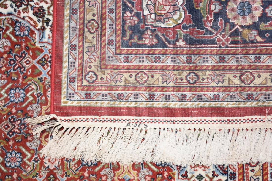 AN INDIAN HAND KNOTTED WOOL TABRIZ STYLE RUG, LATE 20TH - 8
