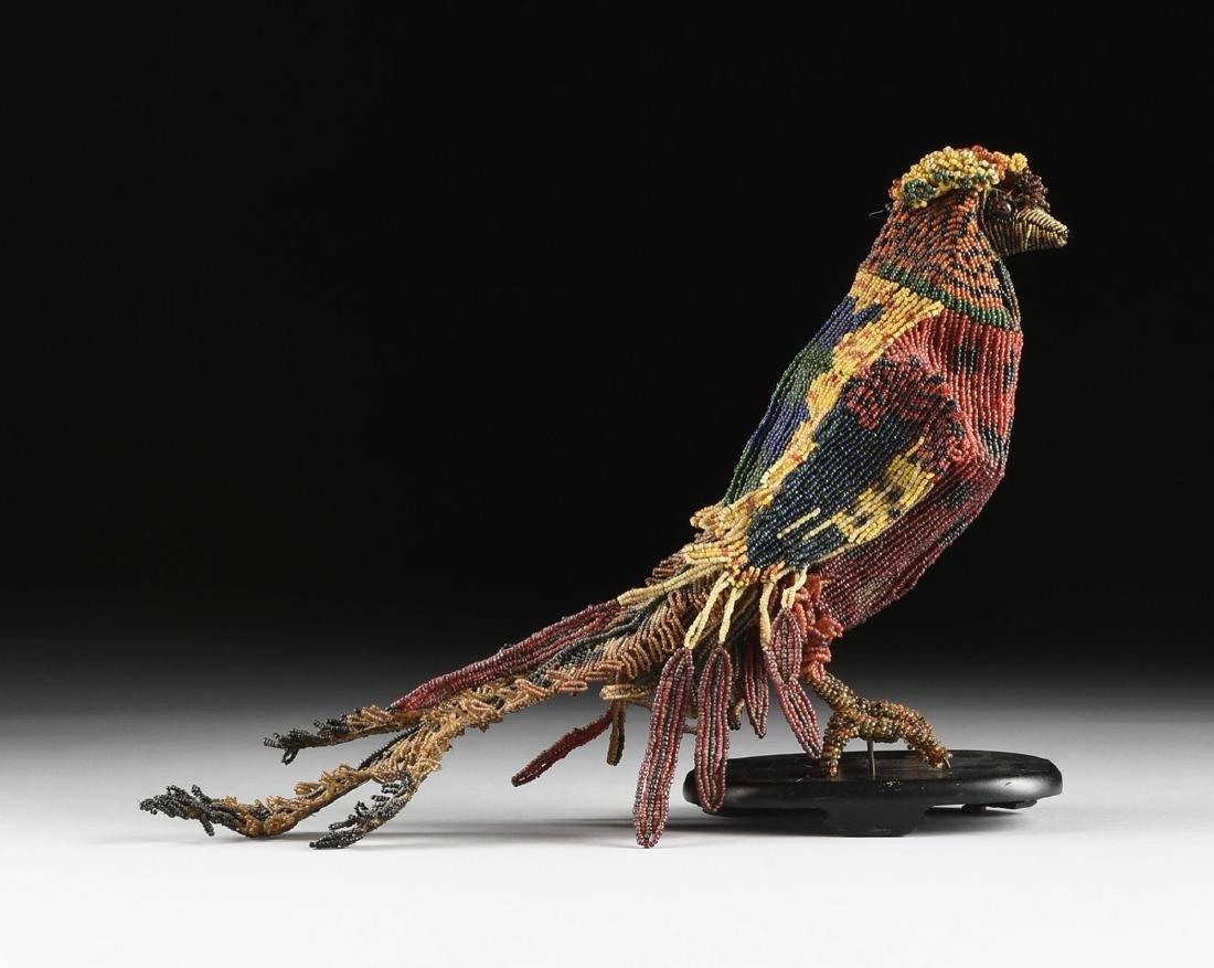 A PAIR OF VENETIAN BEADED GLASS BIRD FORM LAMPS, CIRCA - 3