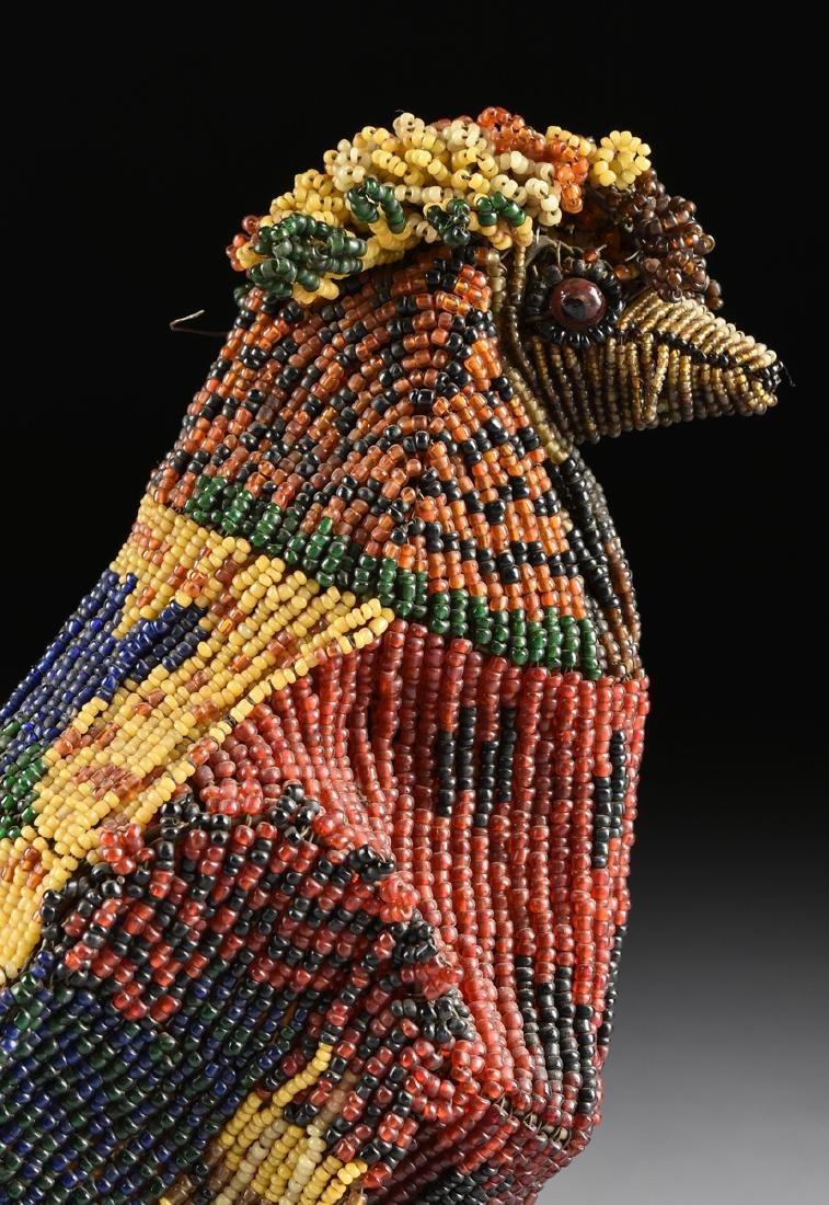 A PAIR OF VENETIAN BEADED GLASS BIRD FORM LAMPS, CIRCA - 4