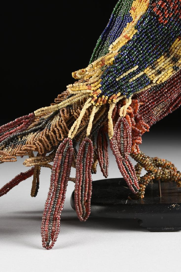 A PAIR OF VENETIAN BEADED GLASS BIRD FORM LAMPS, CIRCA - 5