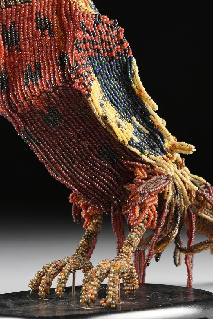 A PAIR OF VENETIAN BEADED GLASS BIRD FORM LAMPS, CIRCA - 8