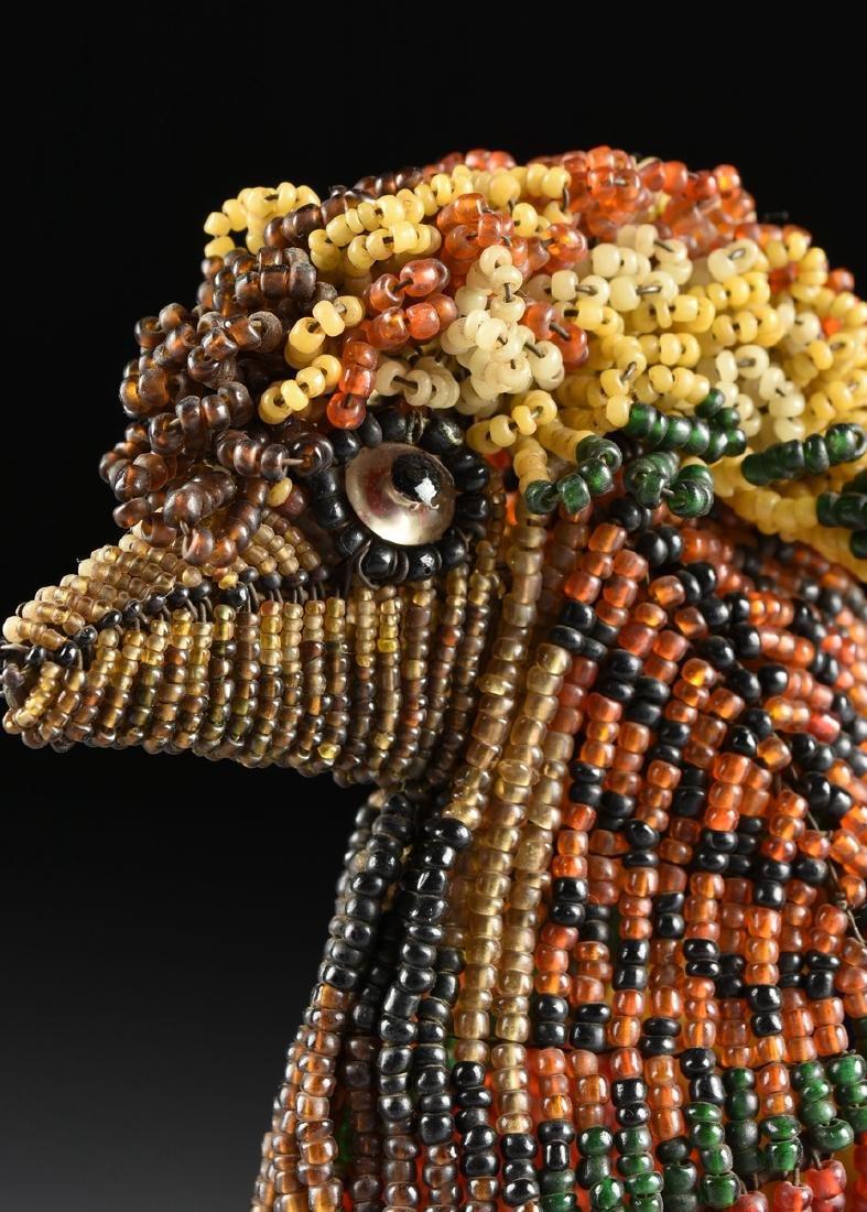 A PAIR OF VENETIAN BEADED GLASS BIRD FORM LAMPS, CIRCA - 9