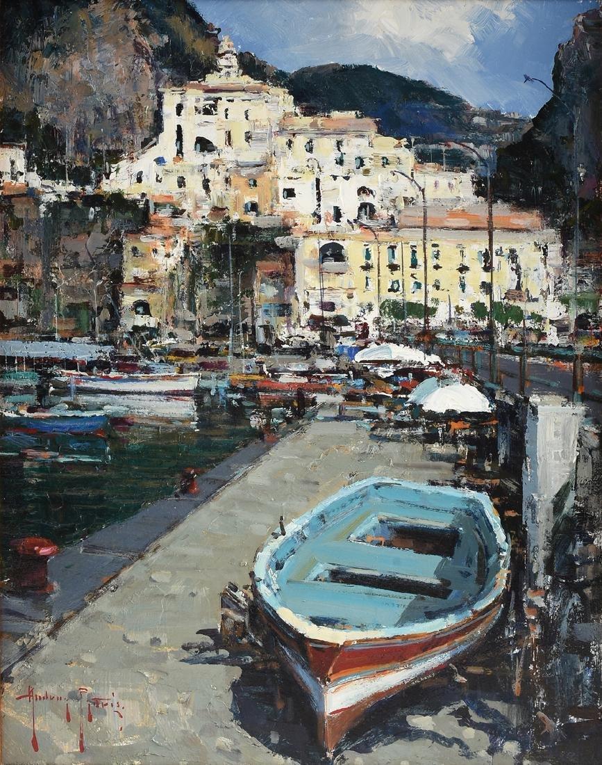 """ANDREA PATRISI (Italian b. 1954) A PAINTING, """"Almalfi,"""""""