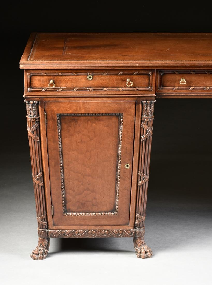 AN EGYPTIAN REVIVAL MAHOGANY PARTNER'S DESK, EARLY 20TH - 2