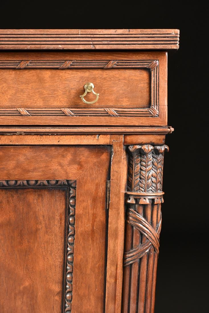 AN EGYPTIAN REVIVAL MAHOGANY PARTNER'S DESK, EARLY 20TH - 4