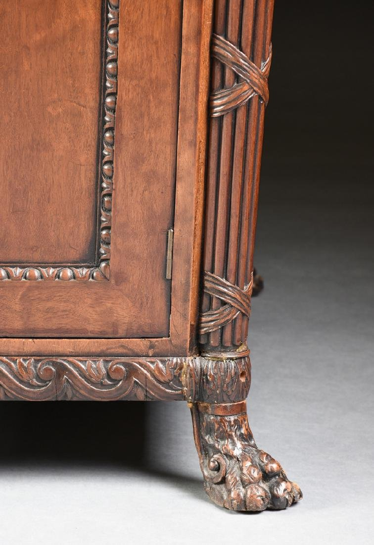 AN EGYPTIAN REVIVAL MAHOGANY PARTNER'S DESK, EARLY 20TH - 5