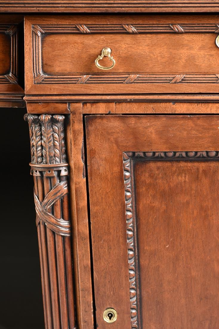 AN EGYPTIAN REVIVAL MAHOGANY PARTNER'S DESK, EARLY 20TH - 6