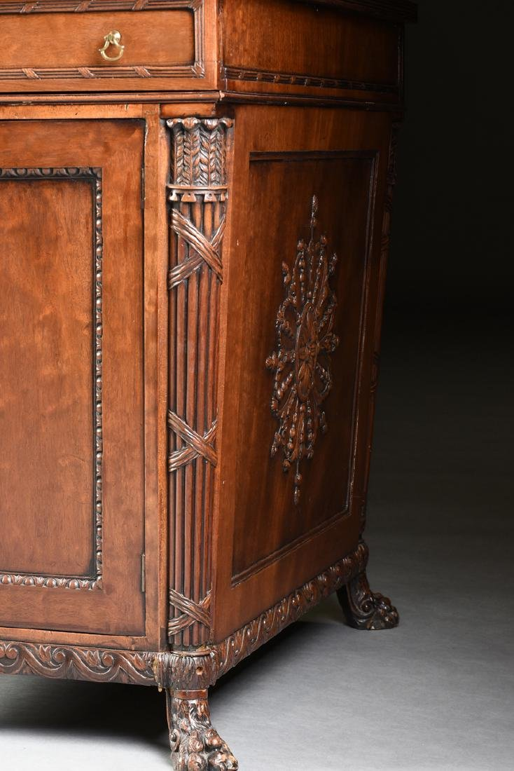 AN EGYPTIAN REVIVAL MAHOGANY PARTNER'S DESK, EARLY 20TH - 7