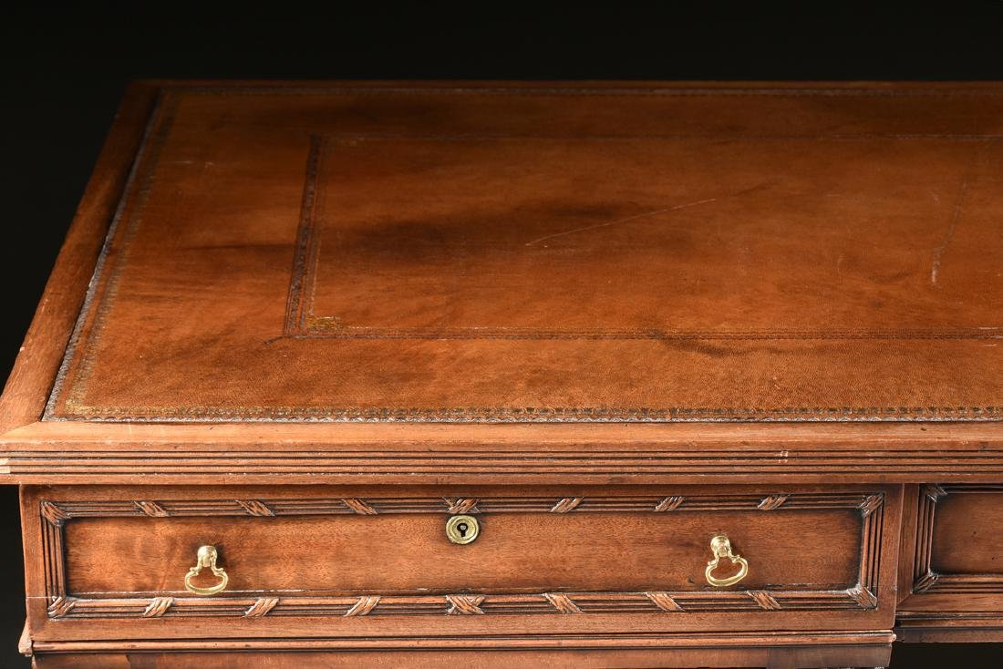 AN EGYPTIAN REVIVAL MAHOGANY PARTNER'S DESK, EARLY 20TH - 8