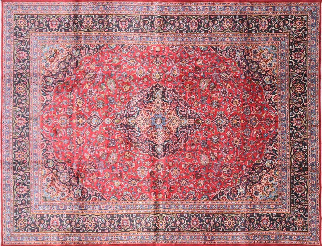 A TABRIZ HAND KNOTTED WOOL RUG, PERSIAN, MODERN,
