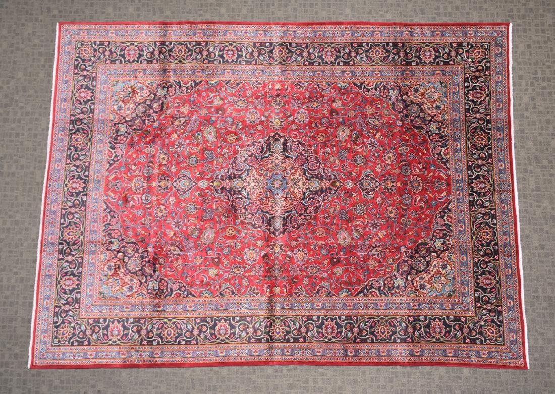 A TABRIZ HAND KNOTTED WOOL RUG, PERSIAN, MODERN, - 2