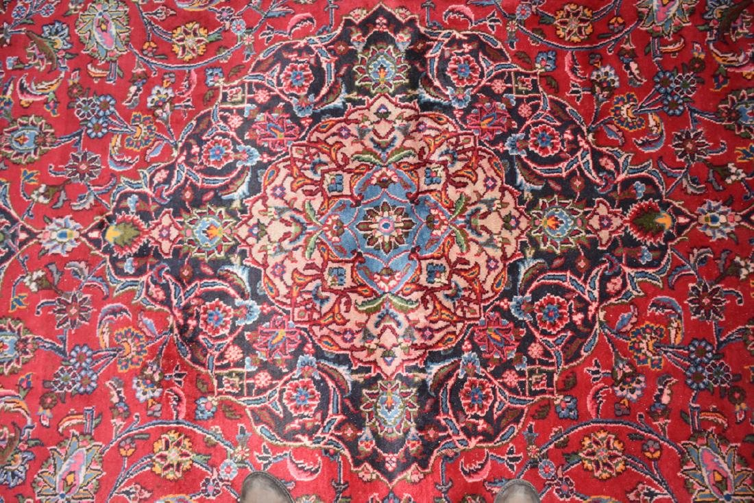 A TABRIZ HAND KNOTTED WOOL RUG, PERSIAN, MODERN, - 5