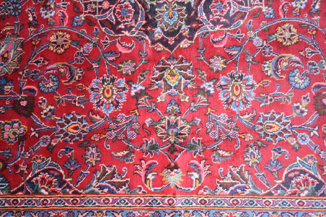A TABRIZ HAND KNOTTED WOOL RUG, PERSIAN, MODERN, - 8