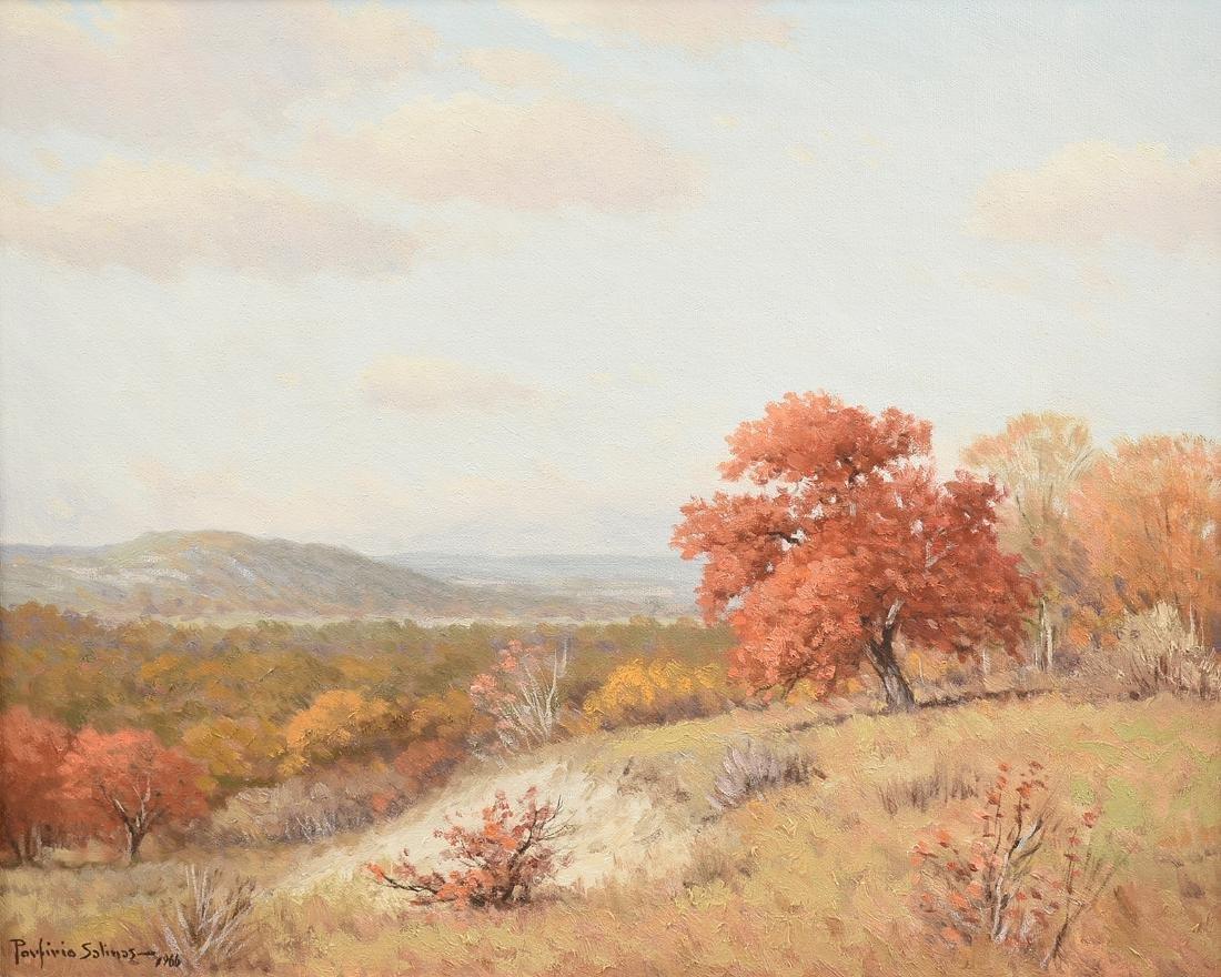 PORFIRIO SALINAS (American/Texas 1910-1973) A PAINTING,