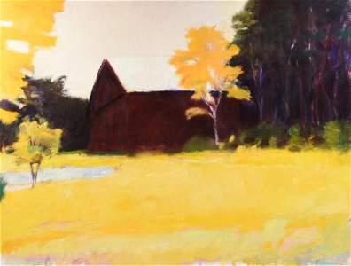 "WOLF KAHN (German/American b. 1927) A PAINTING, ""Barn"