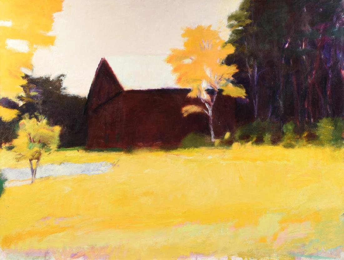 "WOLF KAHN (German/American b. 1927) A PAINTING, ""Barn"