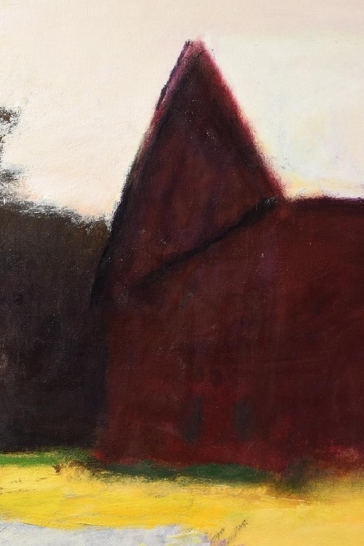 "WOLF KAHN (German/American b. 1927) A PAINTING, ""Barn - 7"