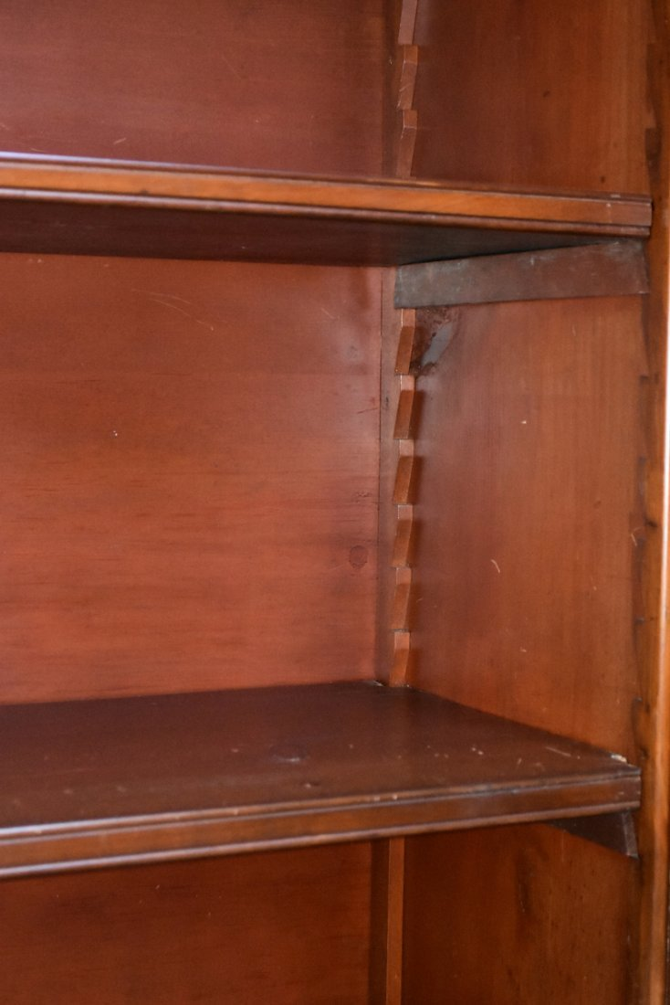 A MONUMENTAL PAIR OF REGENCY STYLE MAHOGANY BOOKCASES, - 6