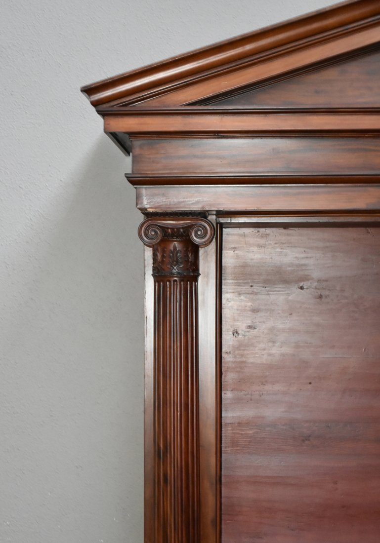 A MONUMENTAL PAIR OF REGENCY STYLE MAHOGANY BOOKCASES, - 7