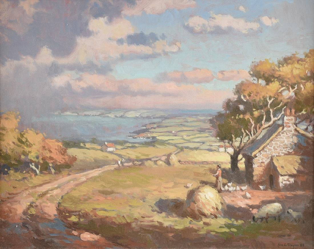 "JOHN C. TRAYNOR (American b. 1961) A PAINTING, ""County"