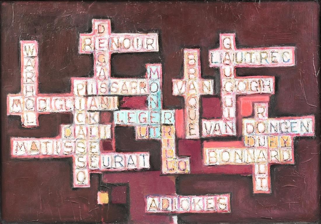"DAVID ADICKES (American/Texas b. 1927) A PAINTING, ""For"