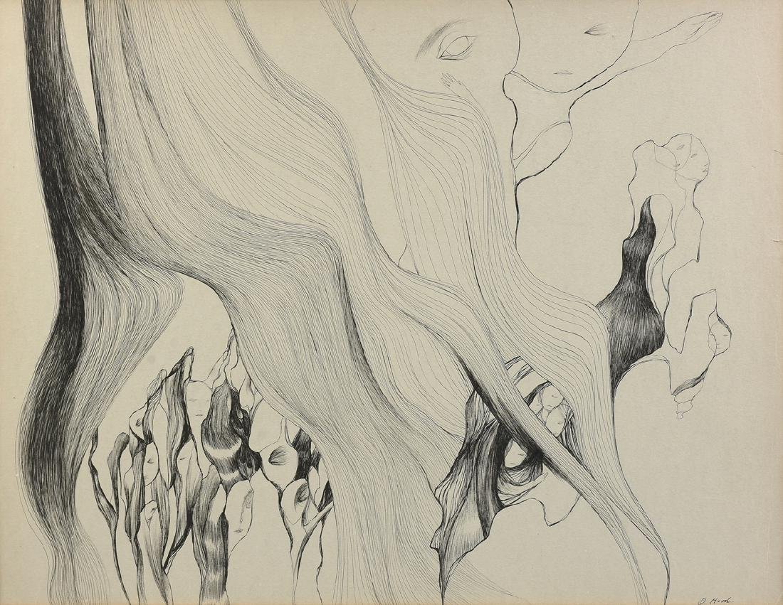 DOROTHY HOOD (American/Texas 1918-2000) A PAINTING,