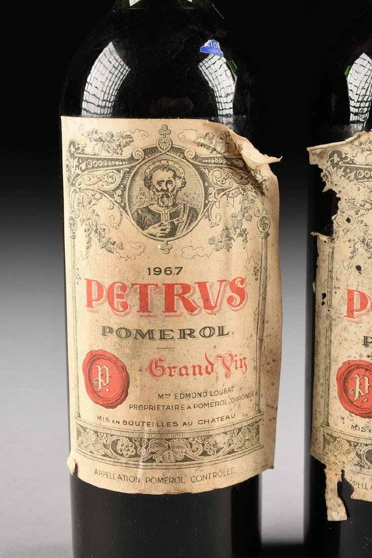 A GROUP OF THREE BOTTLES OF 1967 PETRUS POMERAL WINE, - 3