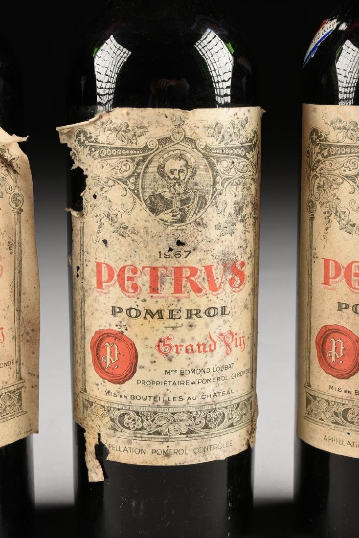 A GROUP OF THREE BOTTLES OF 1967 PETRUS POMERAL WINE, - 4