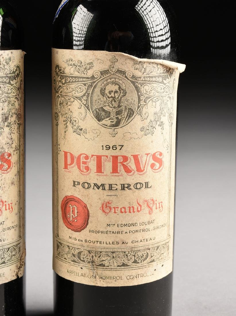 A GROUP OF THREE BOTTLES OF 1967 PETRUS POMERAL WINE, - 5