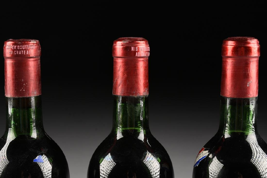 A GROUP OF THREE BOTTLES OF 1967 PETRUS POMERAL WINE, - 6