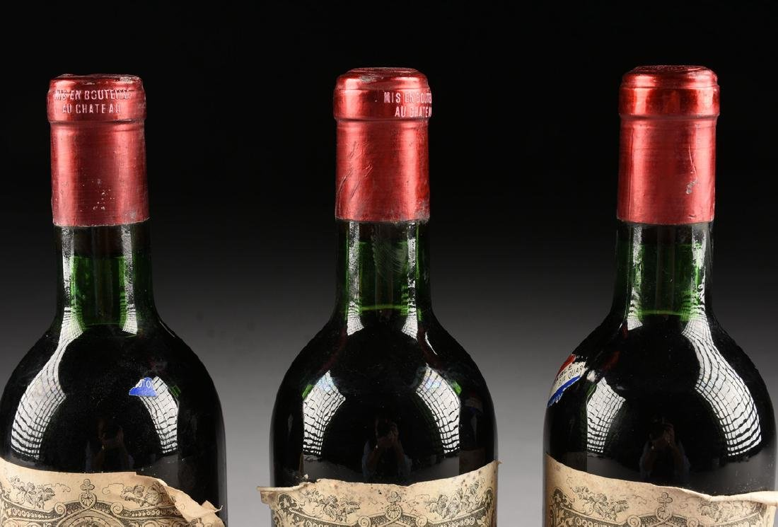 A GROUP OF THREE BOTTLES OF 1967 PETRUS POMERAL WINE, - 7