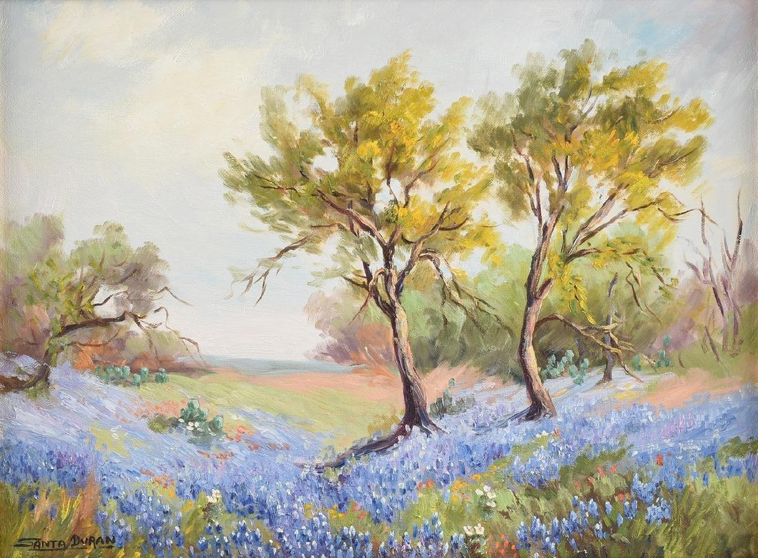 SANTA DURAN (American/Texas 1909-2002) A PAINTING,