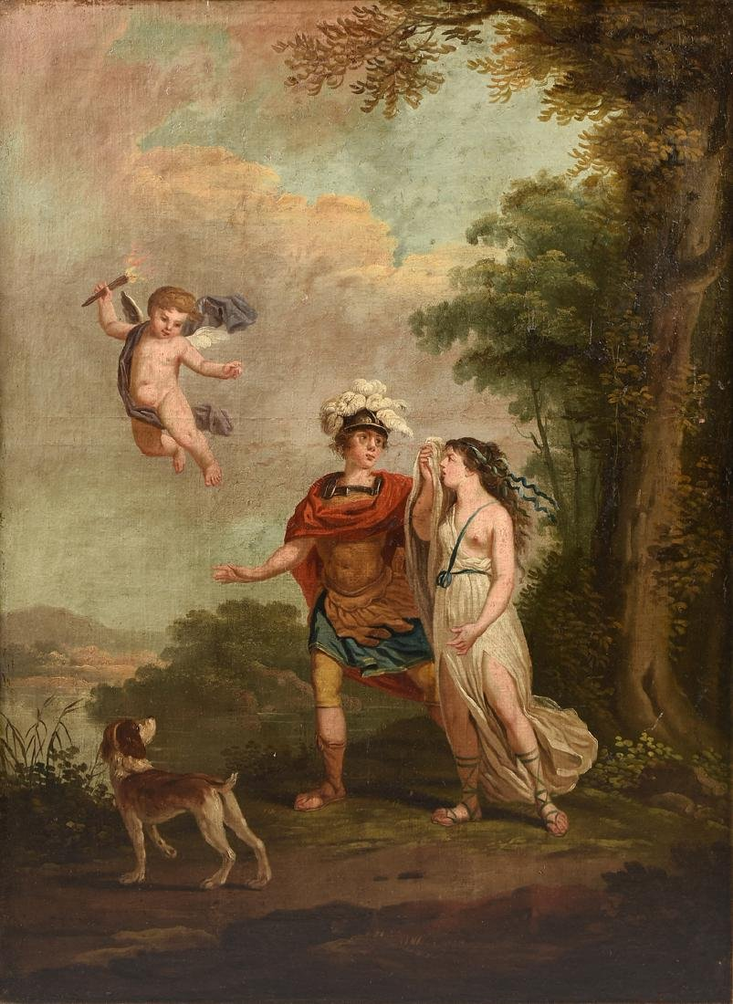 "ITALIAN SCHOOL (18th/19th Century) A PAINTING, ""Cupid,"
