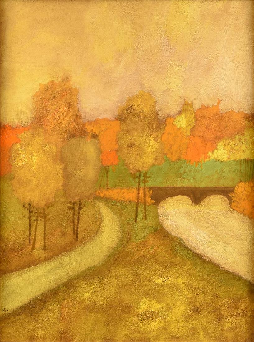 "LAMAR BRIGGS (American b. 1935) A PAINTING, ""Landscape"