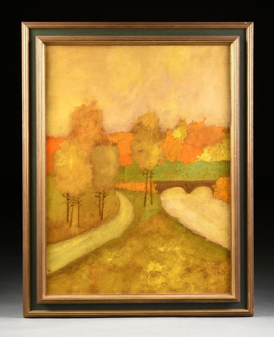 "LAMAR BRIGGS (American b. 1935) A PAINTING, ""Landscape - 2"