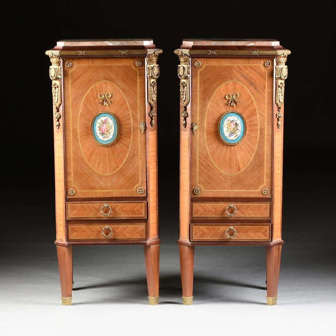 A PAIR OF SECOND FRENCH EMPIRE (1852-1870) ORMOLU AND