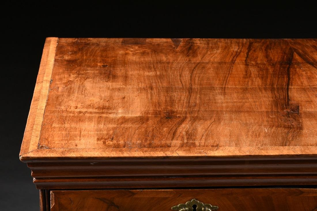 A QUEEN ANNE OAK AND BLACK WALNUT VENEERED CHEST ON - 10
