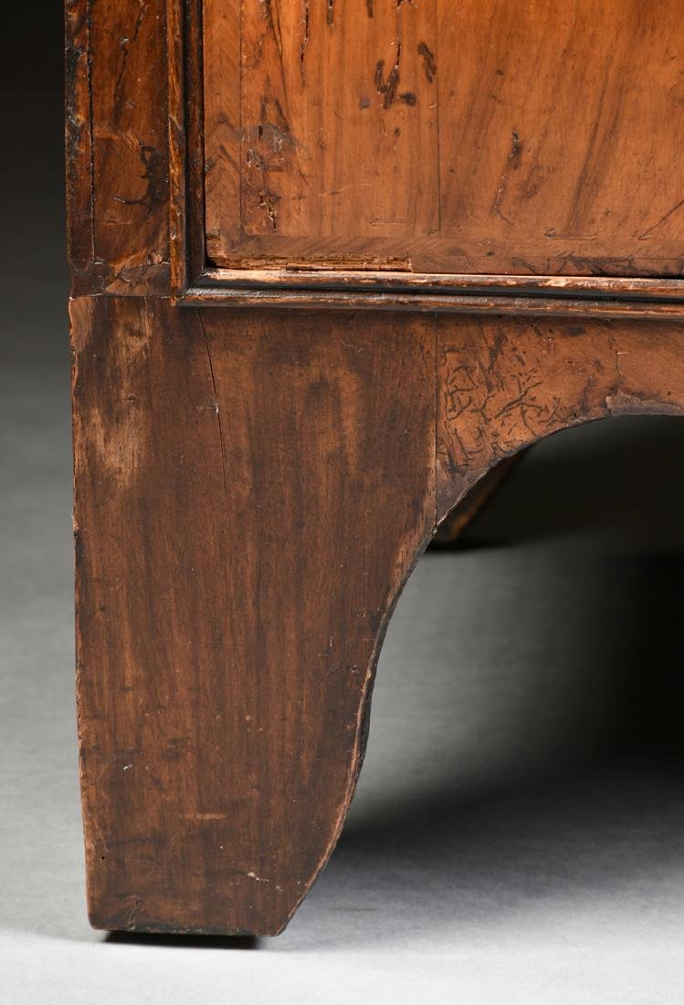 A QUEEN ANNE OAK AND BLACK WALNUT VENEERED CHEST ON - 6