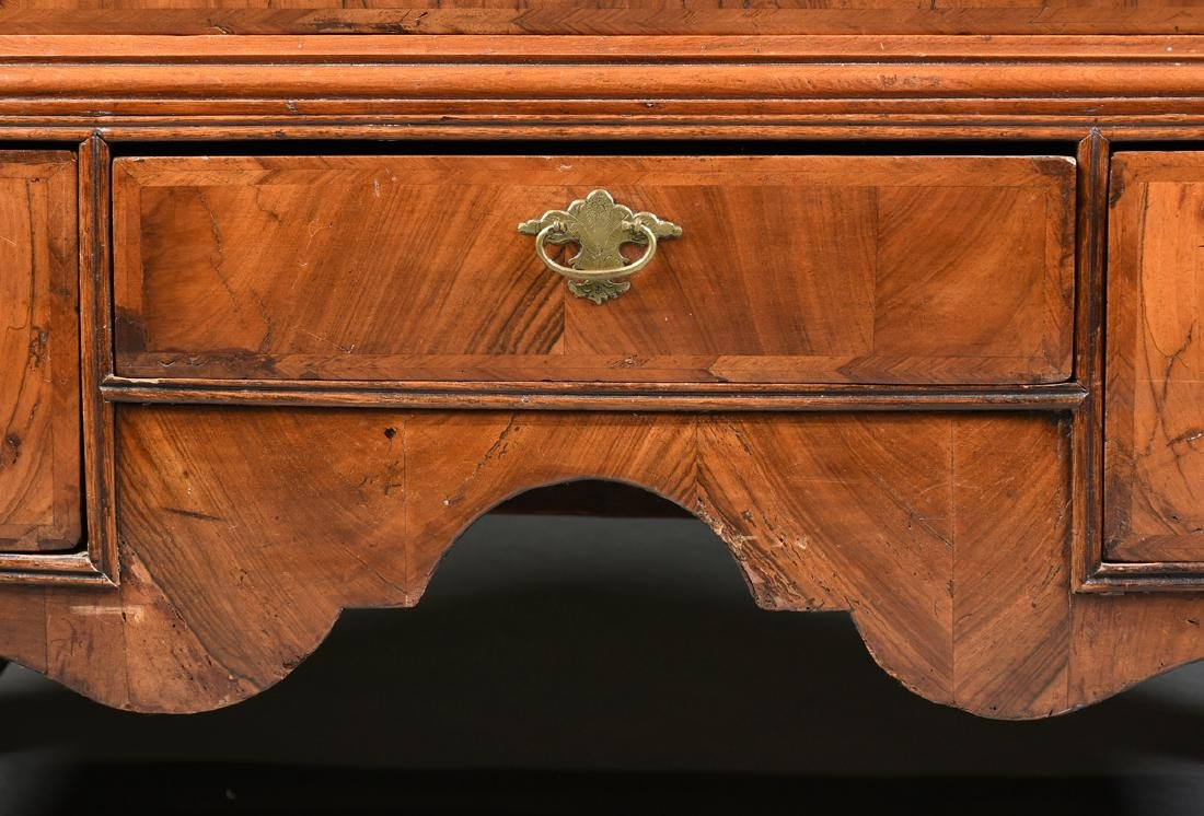 A QUEEN ANNE OAK AND BLACK WALNUT VENEERED CHEST ON - 7