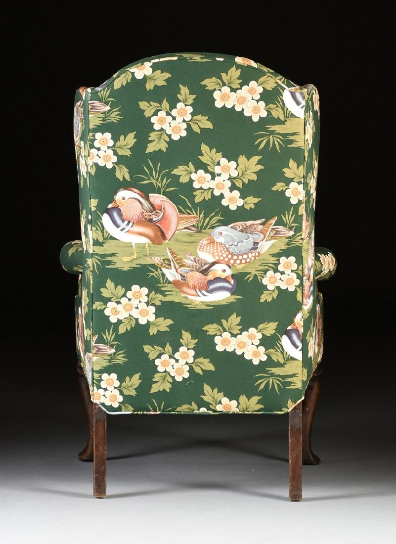 A GEORGE II CARVED BEECH WING BACK ARMCHAIR, ENGLISH, - 7