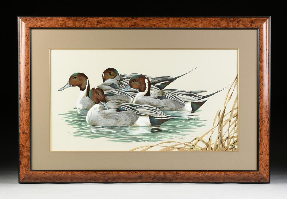 """ART LEMAY (American 21st Century) A PAINTING, """"Pintails - 2"""