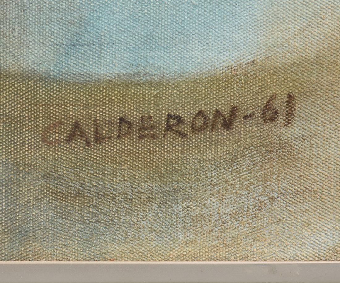 """EDMONDO CALDERON (Mexican b. 1940) A PAINTING, """"The - 3"""