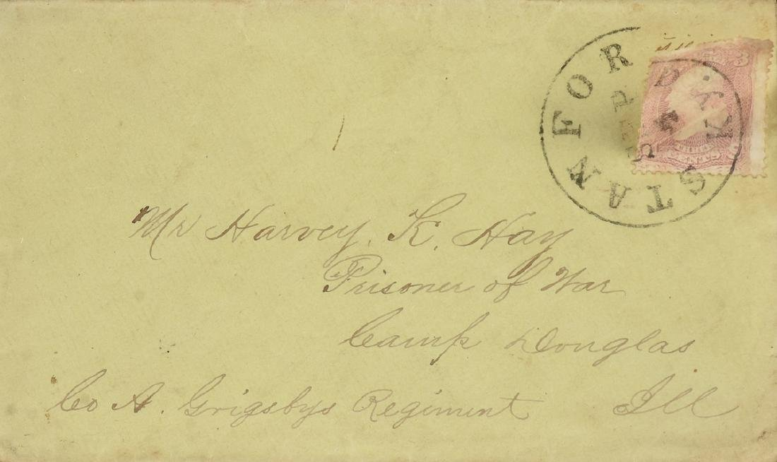 AN AMERICAN CIVIL WAR SECRET MESSAGE LETTER, AUGUST 23,